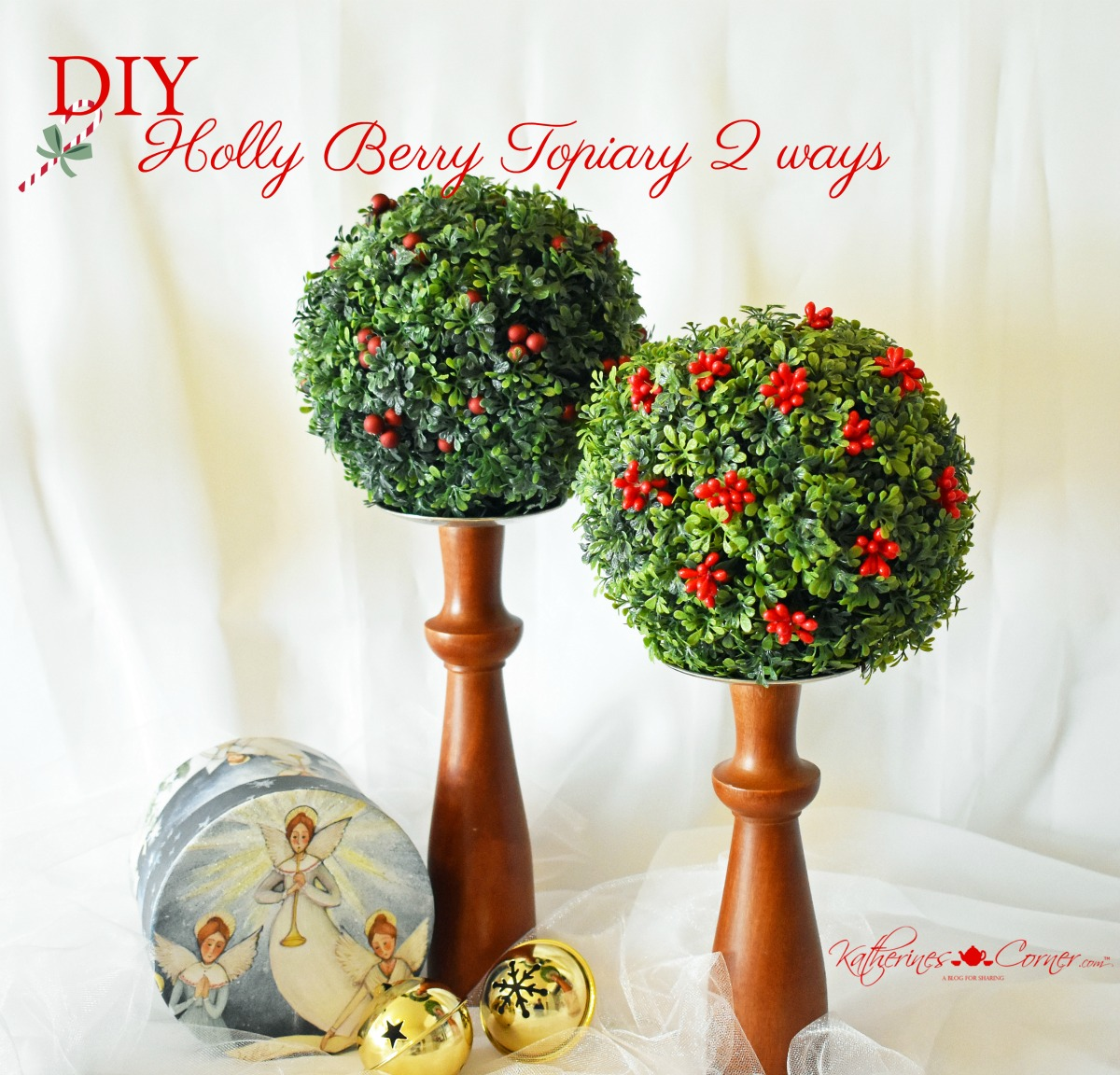 DIY Holly Berry Topiary